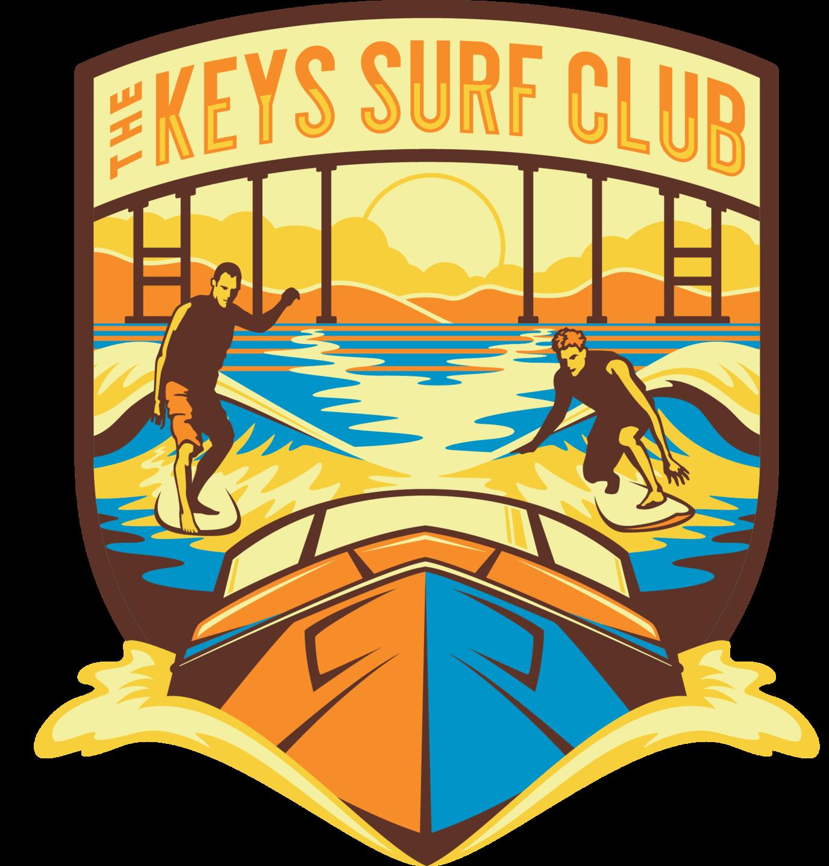The Keys Surf Club logo and calendar