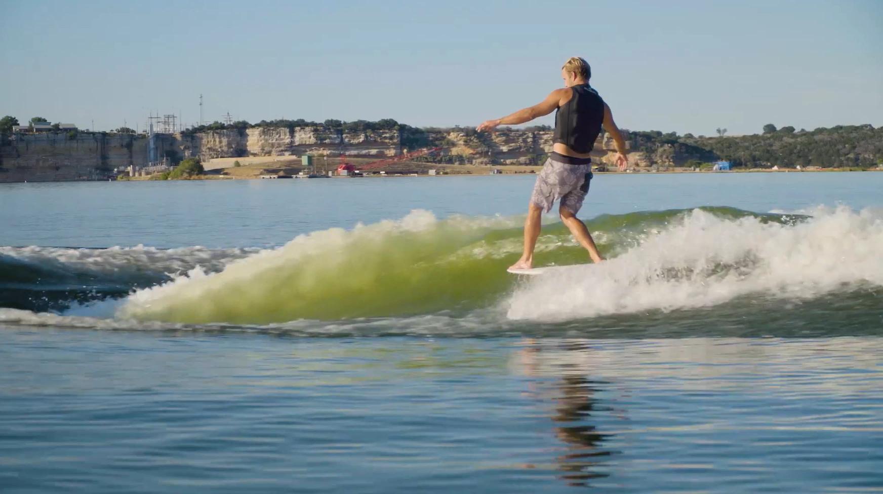 surf technique training boat wave longboard hang 5