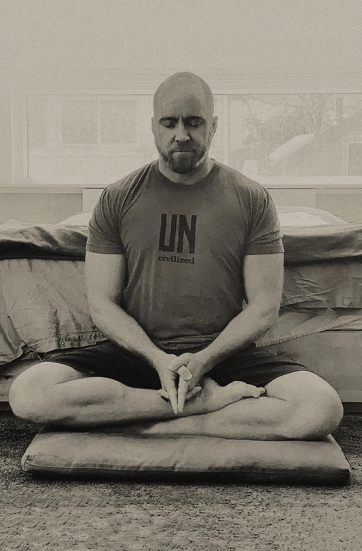 Traver Boehm meditating