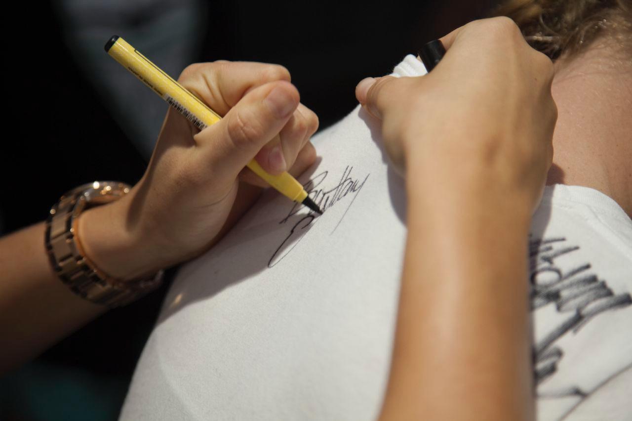 Getting signatures!