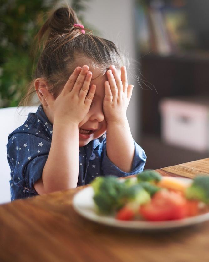 Picky Eater Little girl refusing food