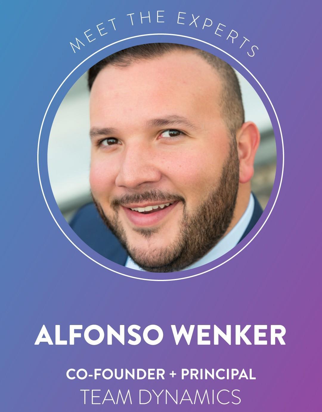 Alfonso Wenker, cofounder and principal Team Dynamics LLC