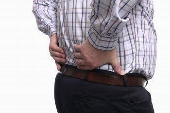 man with low back pain