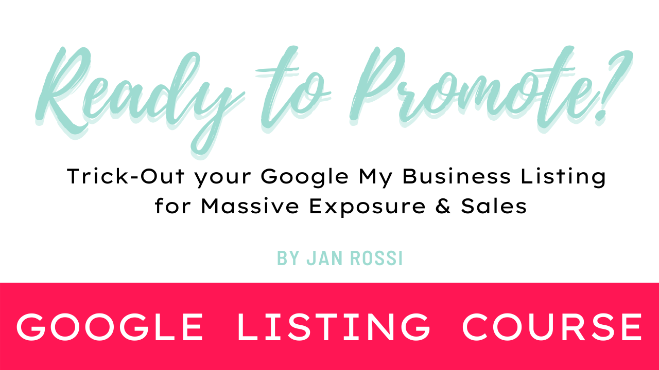 Order Google My Business Starter Course
