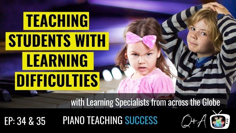 Episode 28 of Piano Teaching Success featuring Gillian Erskine and Paul Myatt.