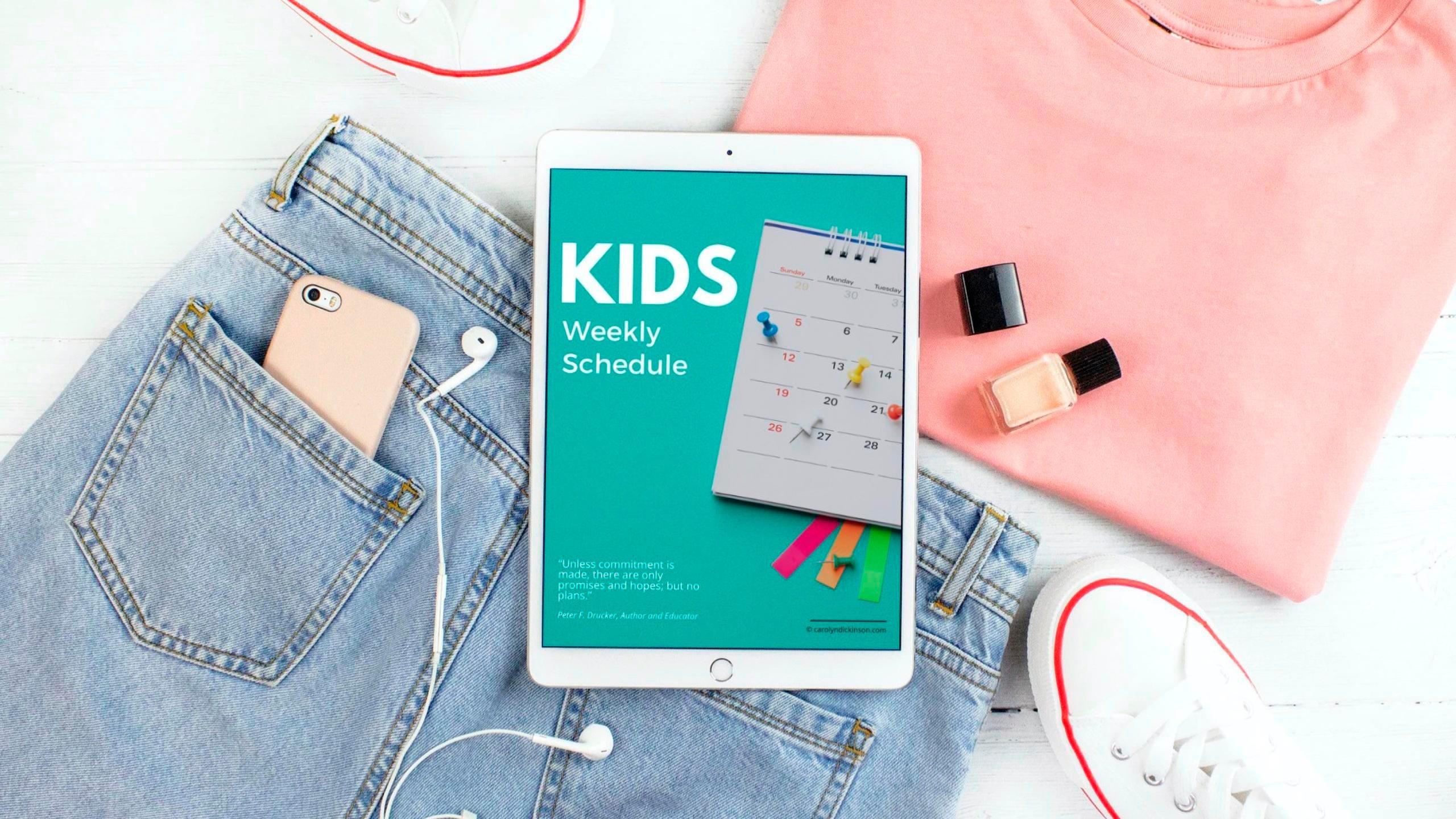 Kids Weekly Schedule Download