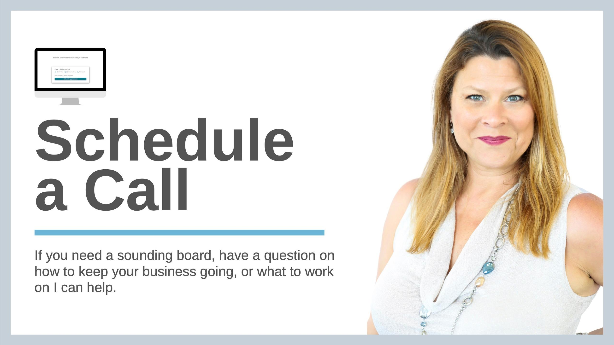 Schedule a Call with Carolyn