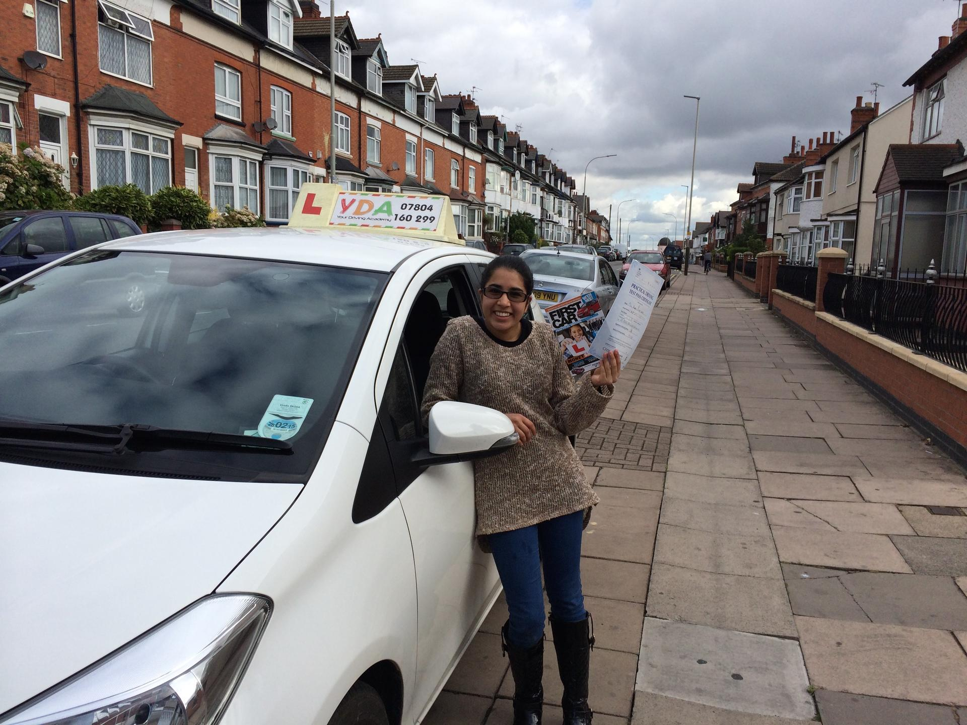 Driving Schools Leicester - Raeesa Khatri