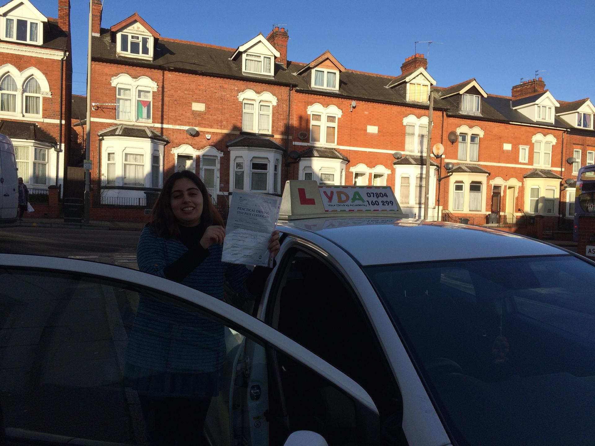 Driving Instructors Leicester - Aqsa Mamad