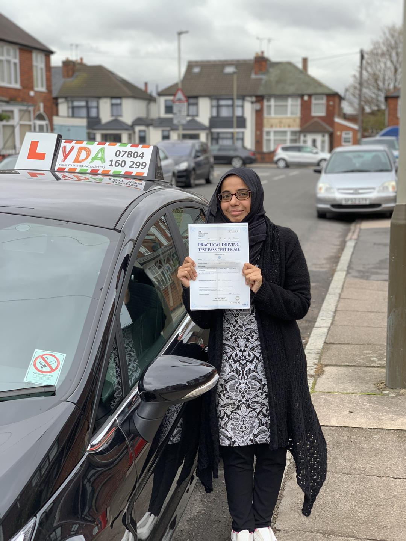 Driving Instructors Leicester - Maryam Tahir
