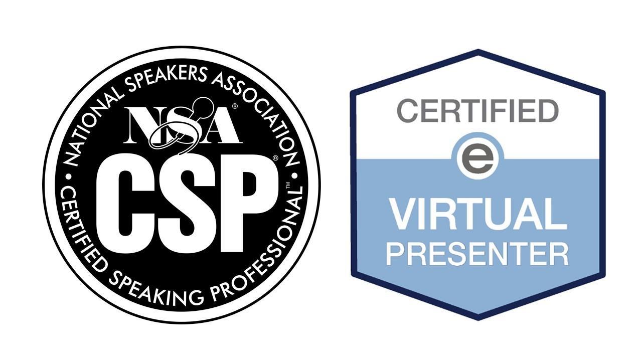 professional speaker logos including CSP