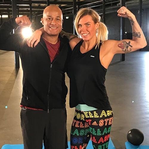 Mikaela Lauren och David D-Flex Seisay