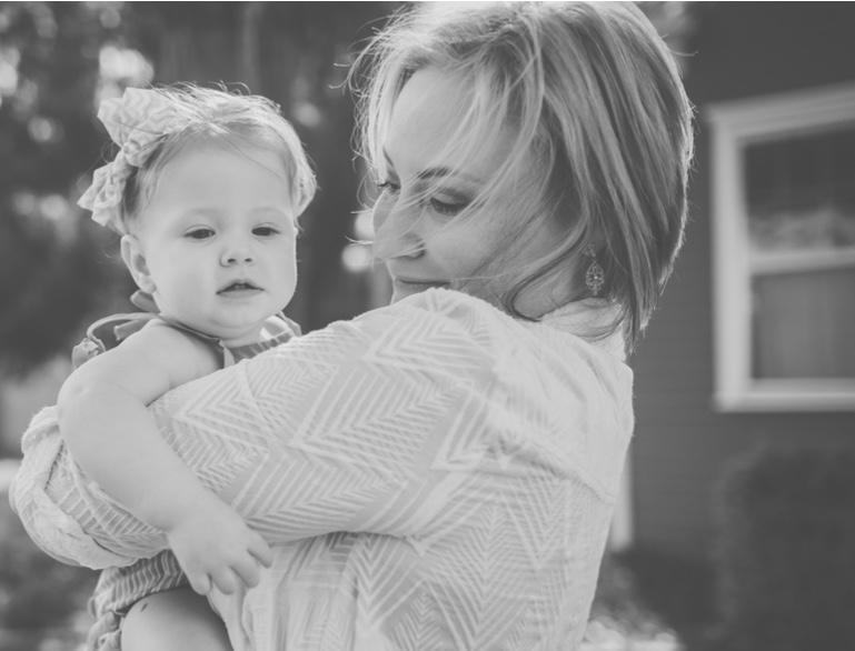 Brandie Price with her baby daughter