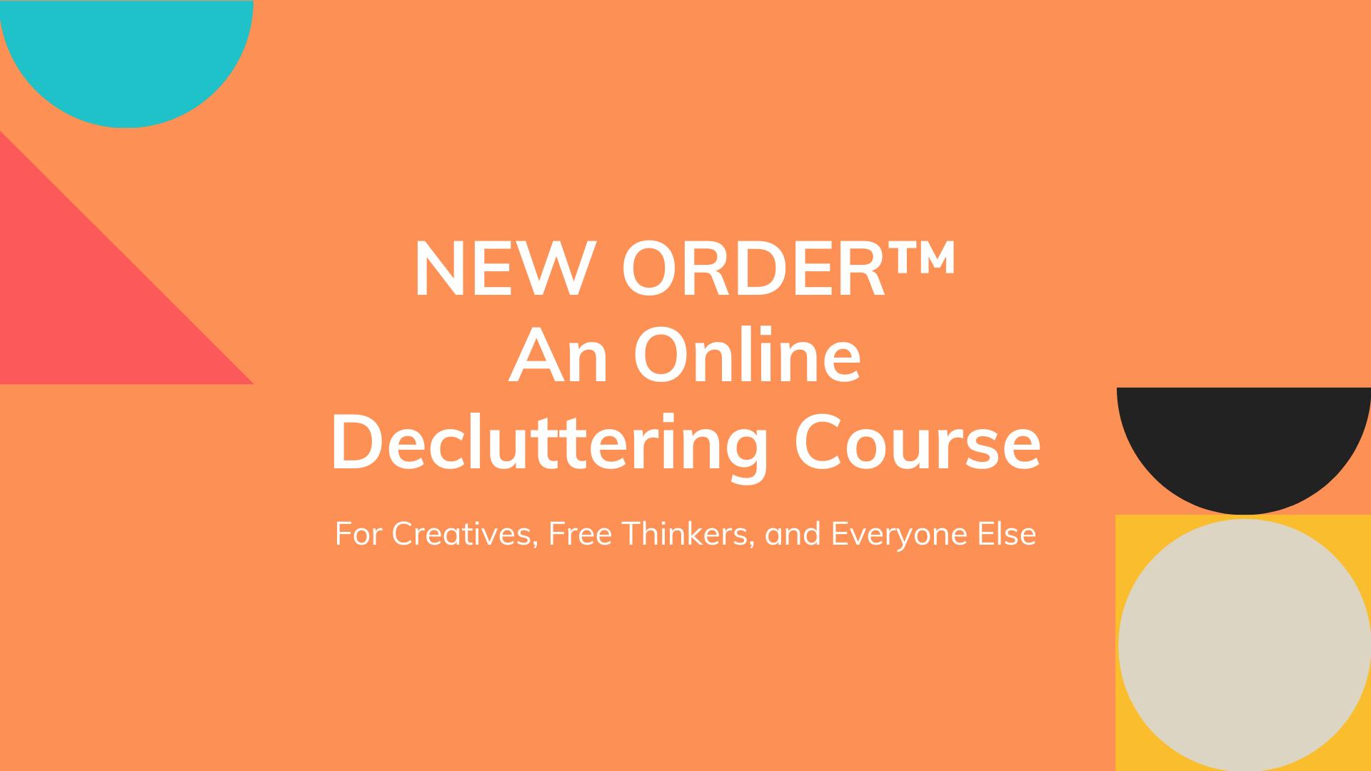New Order™ Course Pilot Program Graphic