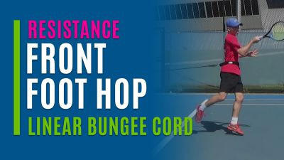 Front Foot Hop (Linear Bungee Cord)