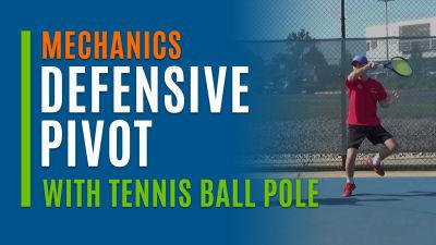 Defensive Pivot (With Tennis Ball Pole)
