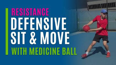Defensive Sit and Move (With Medicine Ball)