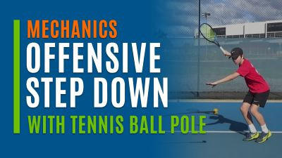 Offensive Step Down (With Tennis Ball Pole)