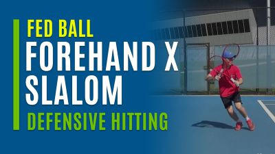 Forehand X Slalom (With Defensive Hitting)