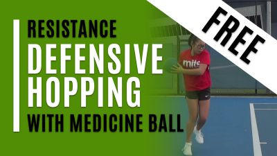 Defensive Hopping (With Medicine Ball)