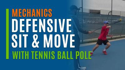 Defensive Sit & Move (With Tennis Ball Pole)
