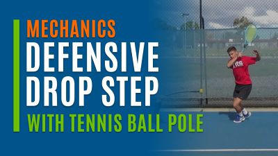 Defensive Drop Step (With Tennis Ball Pole)