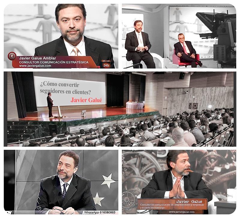 Javi Galué en los medios de comunicación Radio y TV