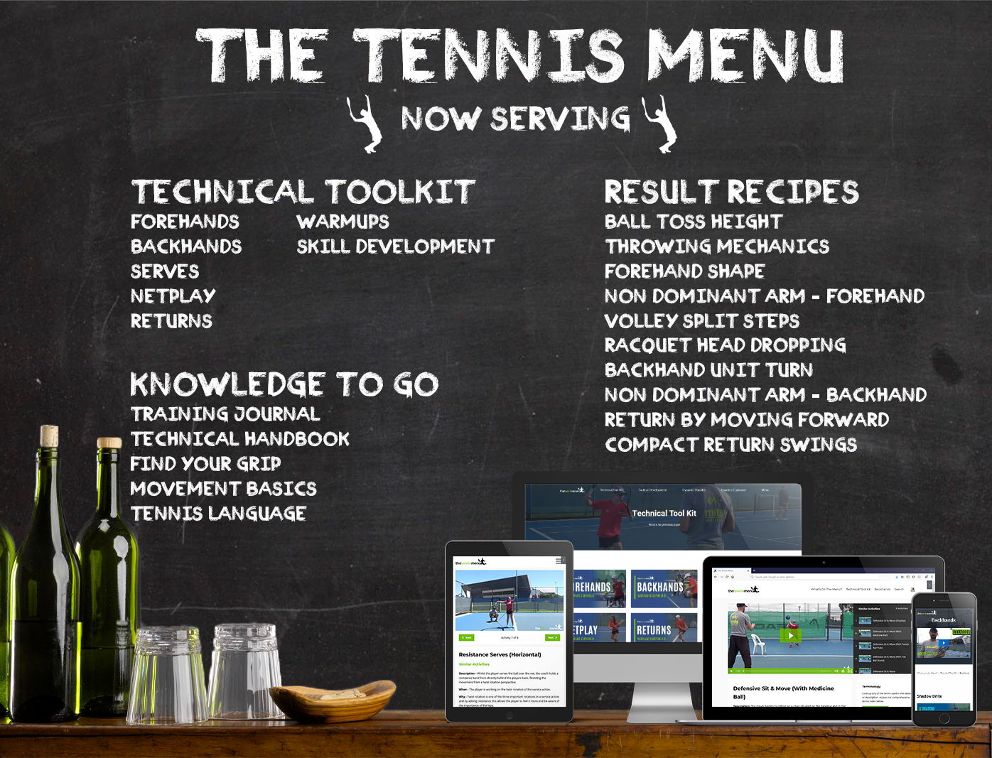 Now Serving - The Tennis Menu