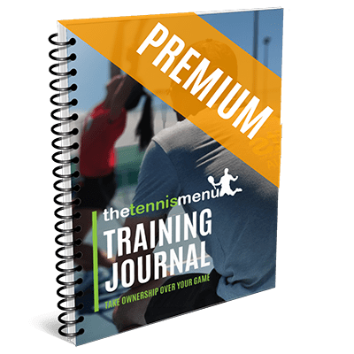 Training Journal - The Tennis Menu