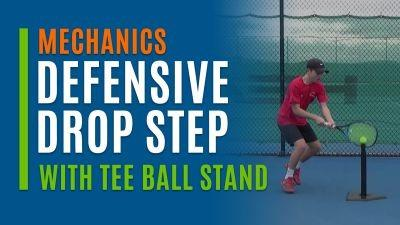 Defensive Drop Step (With Tee Ball Stand)