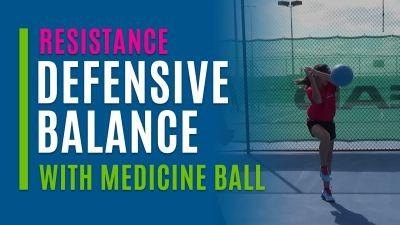 Defensive Balance (With Medicine Ball)