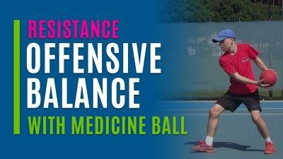 Offensive Balance (With Medicine Ball)