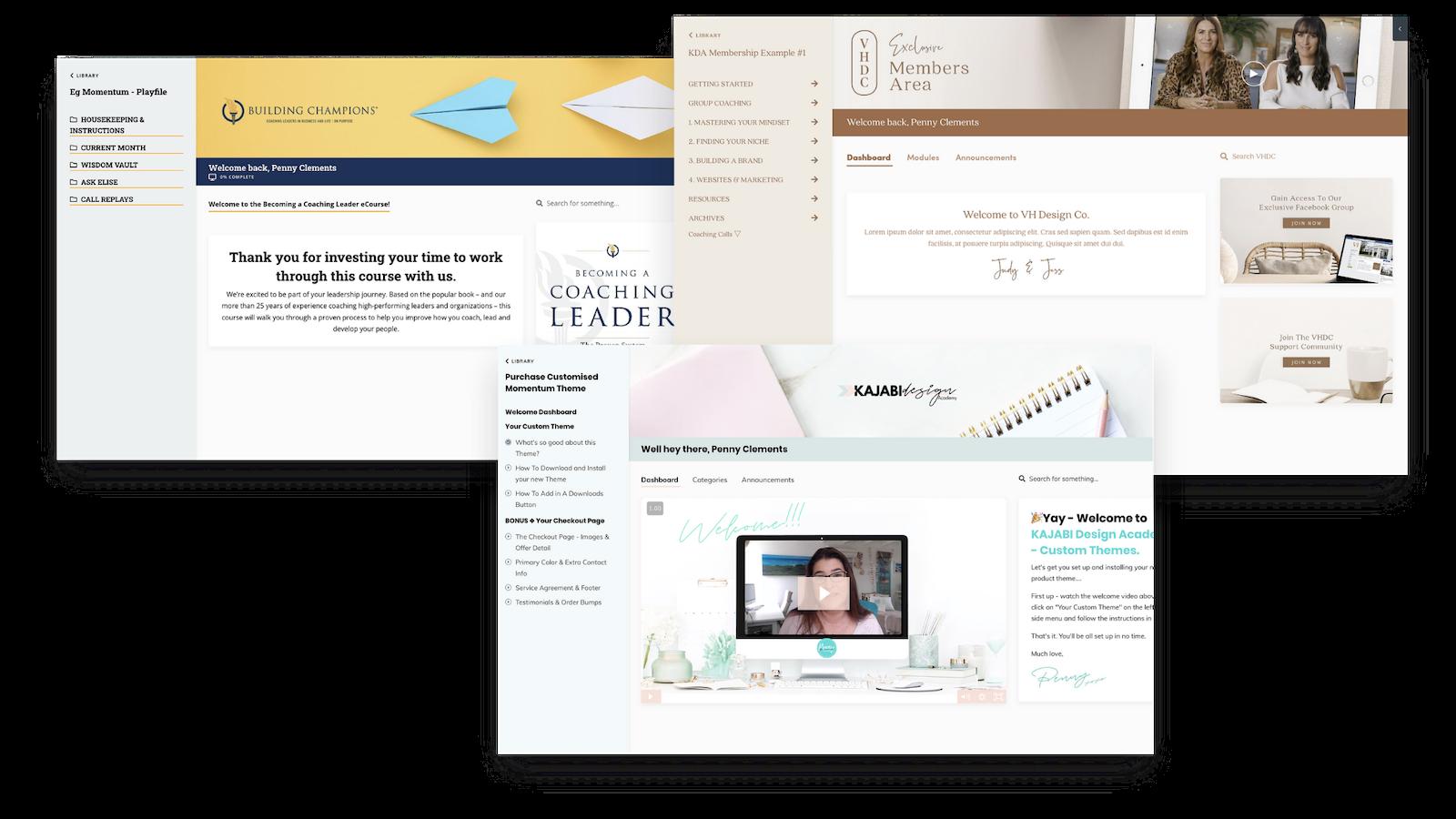 Kajabi Product Themes for Courses and Memberships