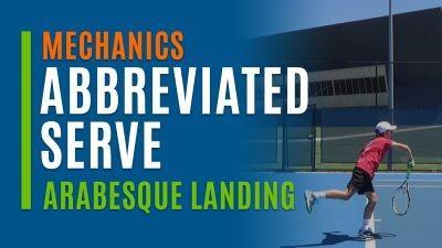 Abbreviated Serve (Arabesque Landing)