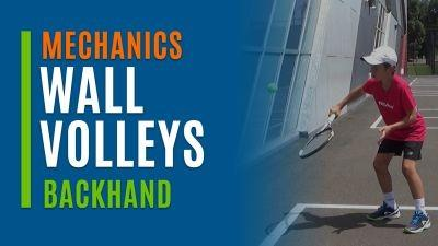 Wall Volleys (Backhand)