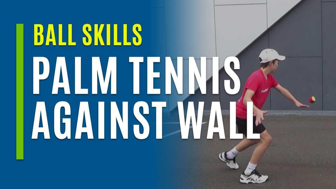 Palm Tennis Against Wall