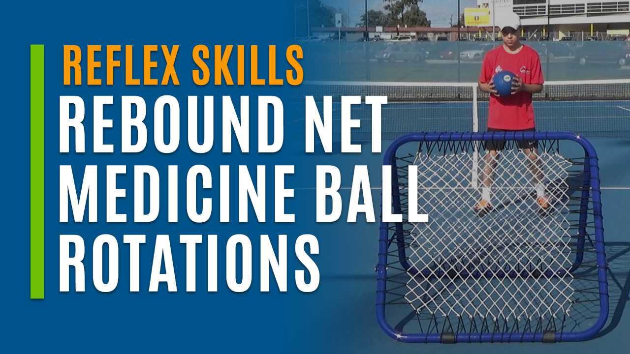Rebound Net Medicine Ball Rotations
