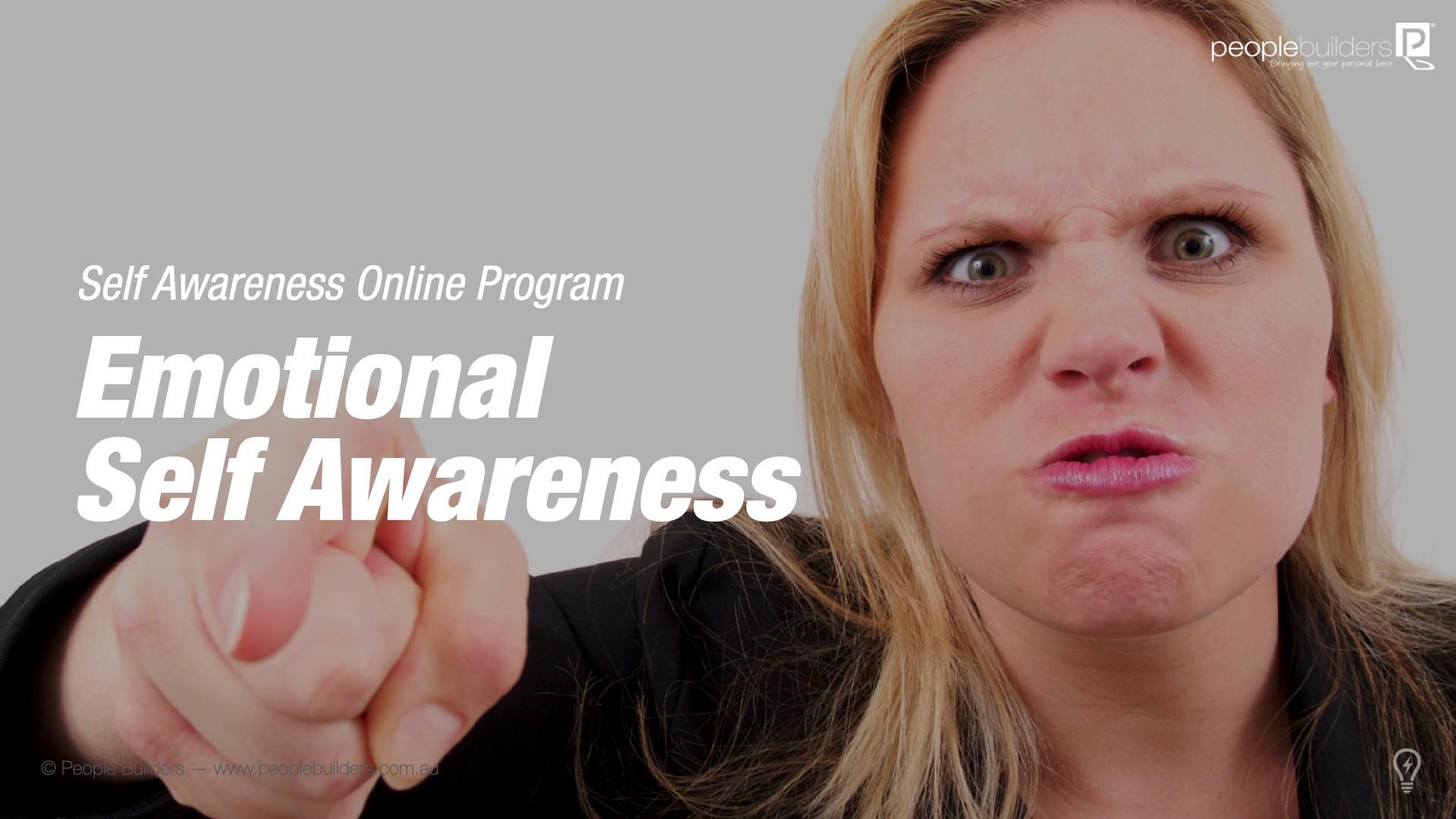 Poster for Emotional Self Awareness showing angry woman pointing a finger.