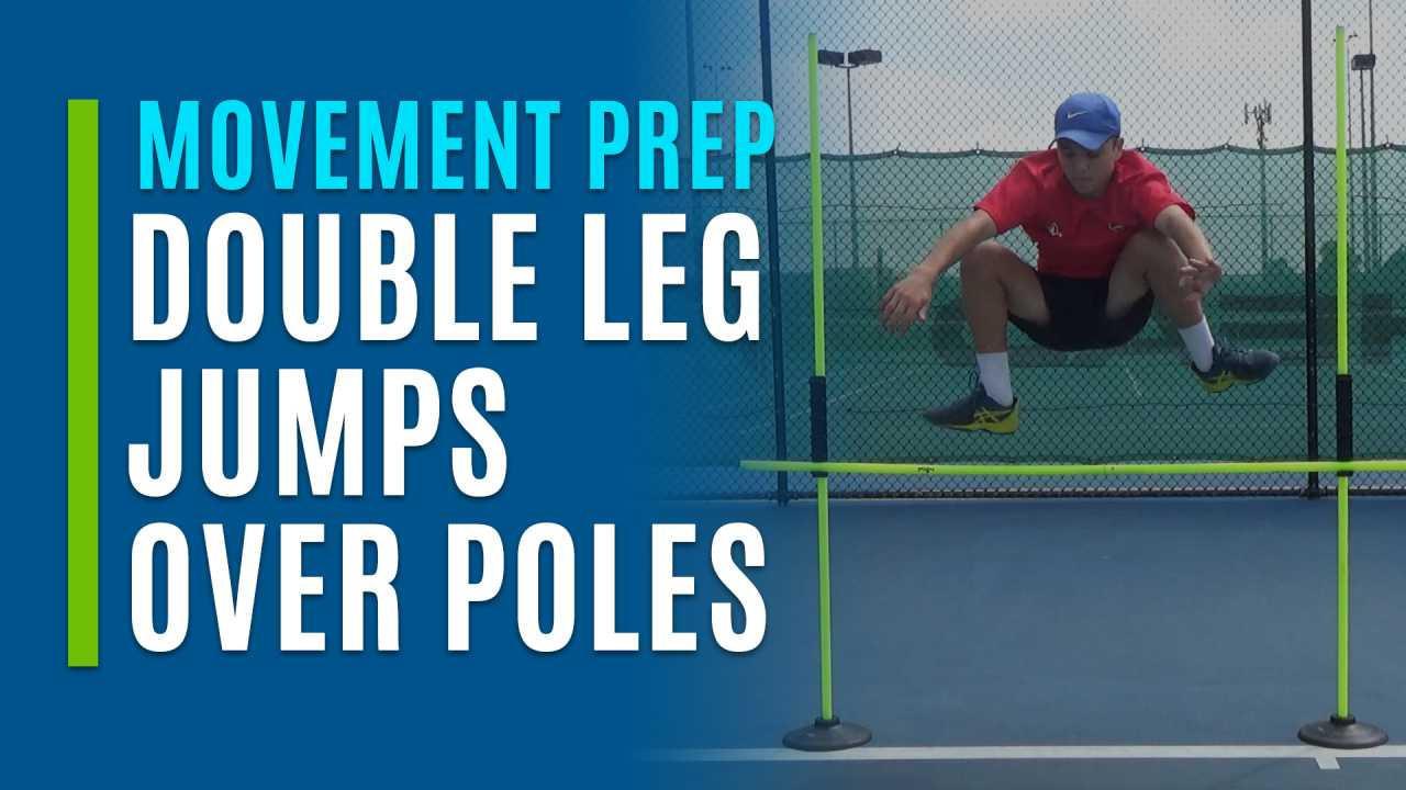 Double Leg Jumps Over Poles