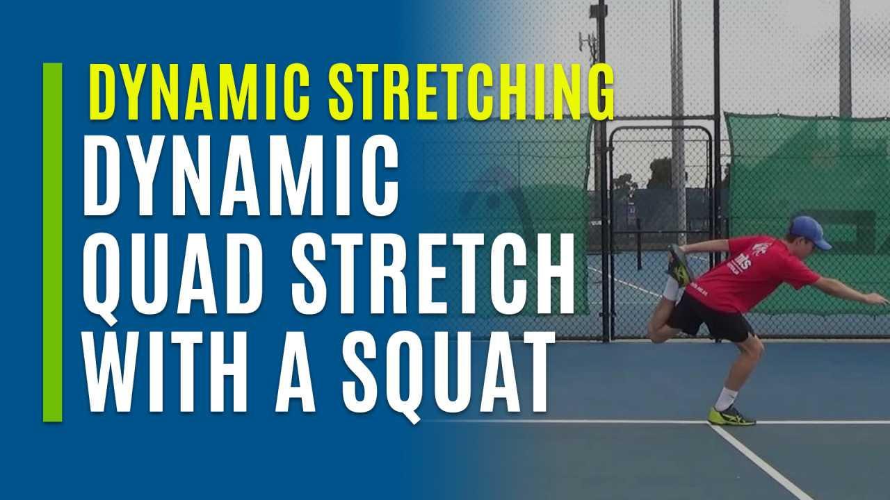 Dynamic Quad Stretch with a Squat
