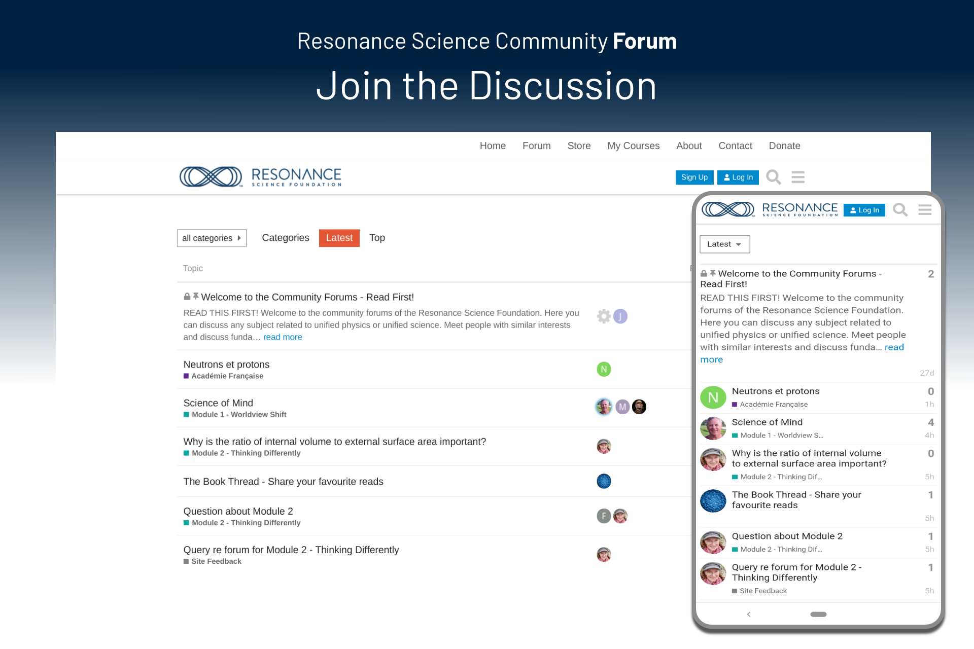 Resonance Science Community Forum. Join the discussion.