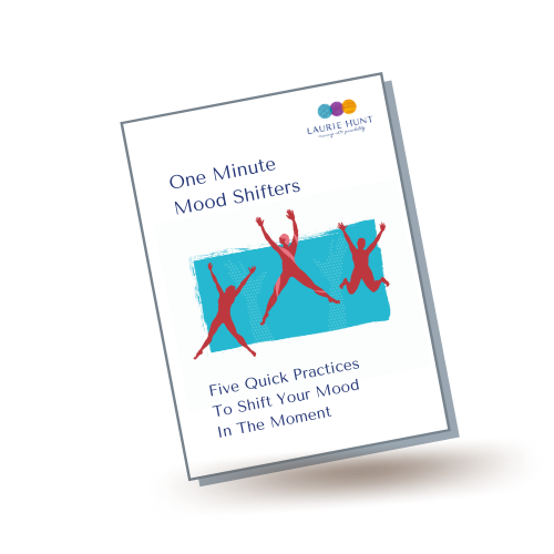 Mockup image of One Minute Mood Shifters booklet