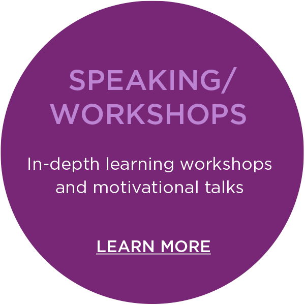 Speaking and in depth learning Workshops learn more button
