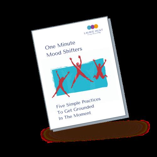 One Minute Mood Shifters Mockup of Workbook