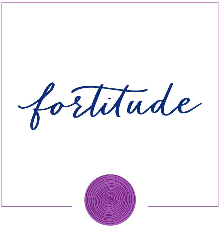 Fortitude Word In Hand Lettering, inside Square