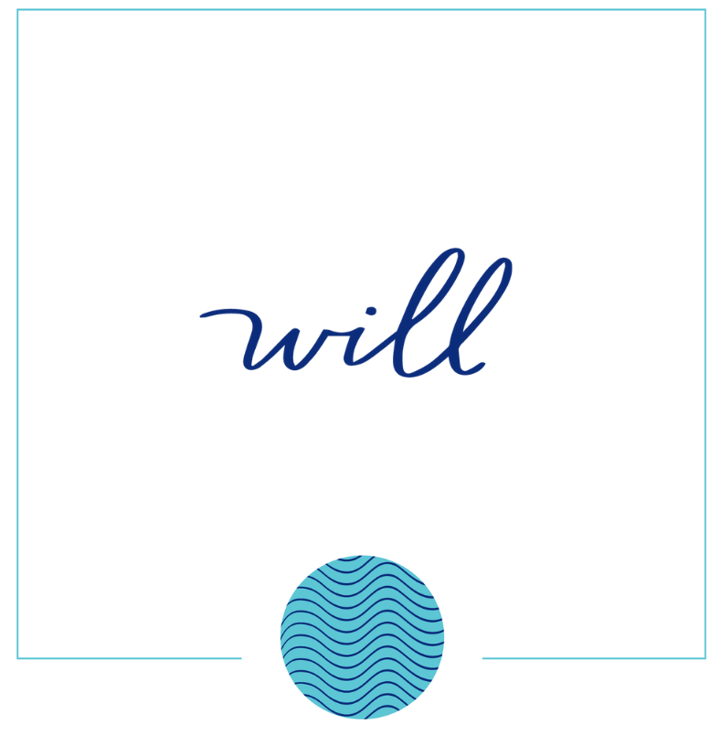 Will Word in Hand Lettering Inside Square