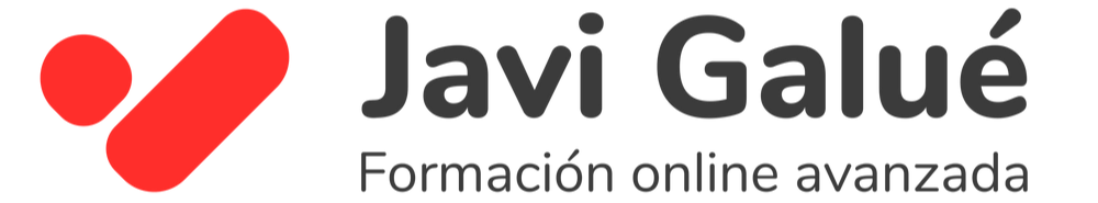 Logo de Javier Galué - Comunica y Conecta - Cursos Online y Formación