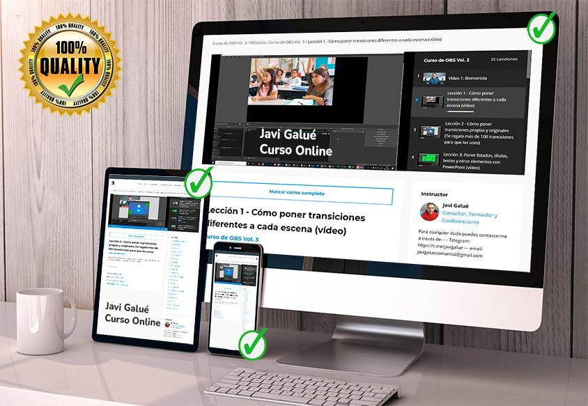 Cursos online de OBS, curso online de Zoom, cursos para hacer mejores videoconferencias y clases online, curso de Youtube, curso de neurocomunicación