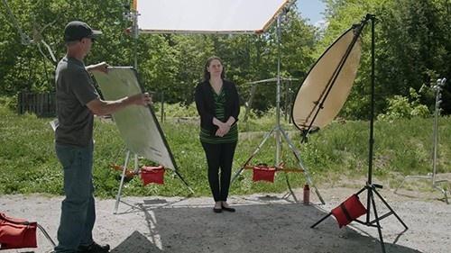 Storm Warriors Media Foundation: SNEAK PEEK #2: A Sampler of Intermediate-Level Interview Lighting Techniques - EXTERIOR SET UP