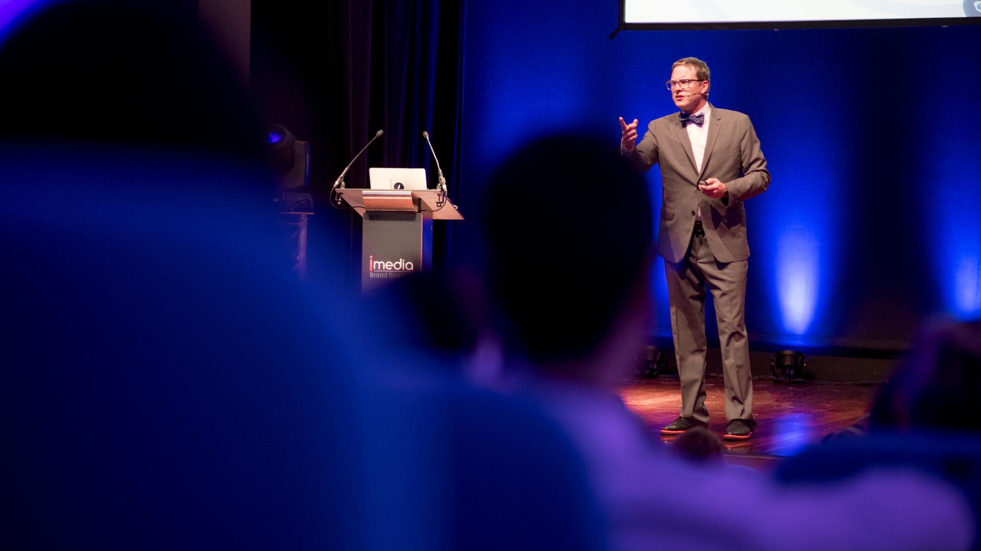 Andrew Davis, imedia brand summit event